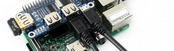 4 Port USB HUB HAT for Raspberry Pi ws-12694