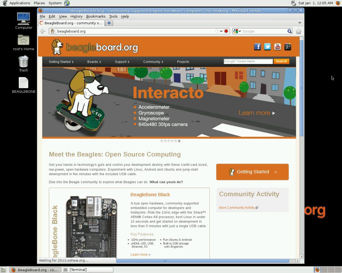 BeagleBone Black – ネットワークにつなげる –