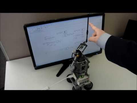 Lego EV3 Inverted Pendulum Swing-Up Demonstration
