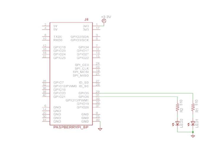 3.4 Raspberry Pi B+ スイッチでLEDをON/OFF