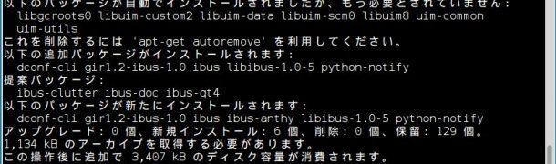 RaspberryPi日本語入力 iBus-anthy を入れる